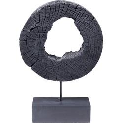 ornament ring of fire zwart 53 x 35 x 10