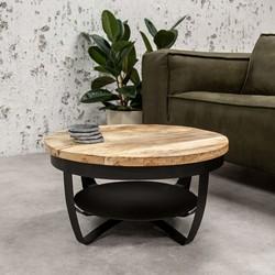 Industriële ronde salontafel Baldo 70 cm