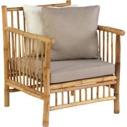 Persoon Exotan Bamboe lounge tuinstoel - bamboo natural finish
