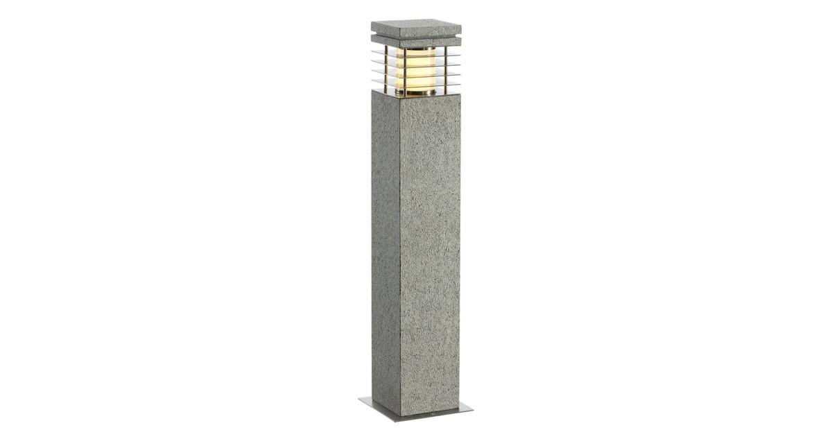 SLV buiten sokkellamp Arrock Graniet 70 - salt/pepper