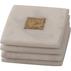 Hinton White - 10.0 x 10.0 x 1.5 cm