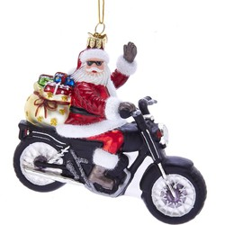 Noble Gems Santa On Motorcycle 5.5 Inch