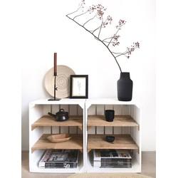 Fruitkist - Nieuw -Wit - Set van 2 - 2 Legplanken Bruin - 40x30x50cm
