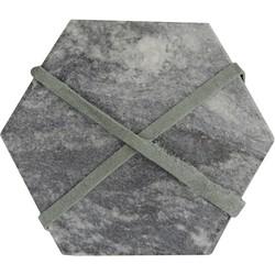 Onderzetter Hexagon 4 zwart
