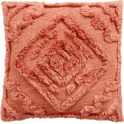 kussenhoes shaggy oud roze 48 x 48