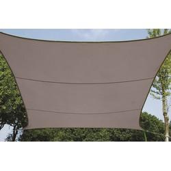 Waterafstotend zonnedoek vierkant 5 x 5 m Taupe