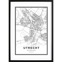 Utrecht Stadskaart Poster (21x29,7cm)
