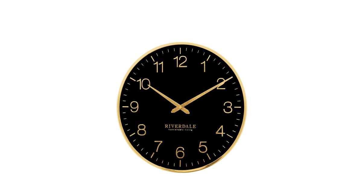 Riverdale Wandklok Ritz 40 cm Zwart/Goud online kopen