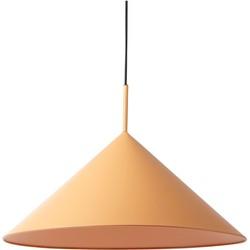 hanglamp triangel metaal matt peach 39 x 60 x 60
