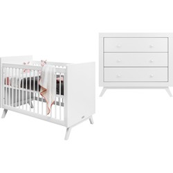 Bopita Fiore 2-Delige Babykamer - Bed - Commode - Wit
