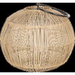 Clayre & Eef - lantaarn Ø 39*50 cm - natuur - rotan/ ijzer - rond - 6RO0440