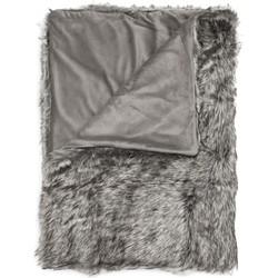Plaid Makani 140x200 cm grey - 100% Acryl 100% Polyester