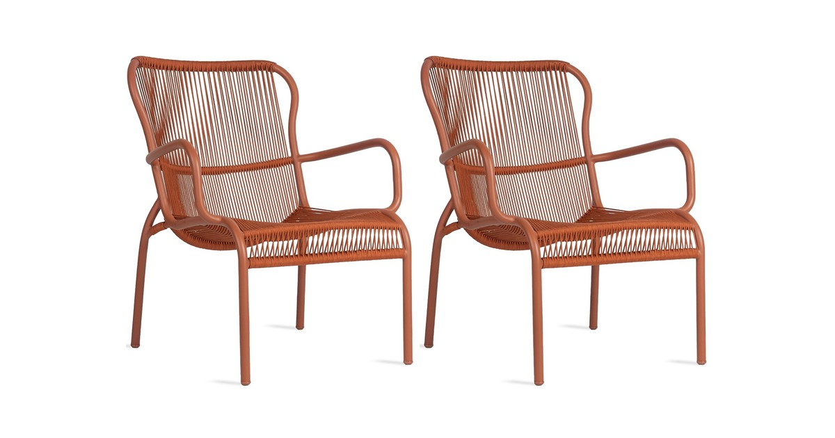 Vincent Sheppard Loop Rope Lounge Chair - Set Van 2 - Terracotta