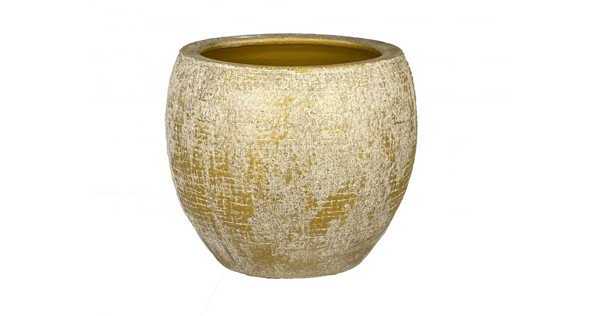 HS Potterie Oker gele Pot Montano - Oker Gele Pot D23xH21