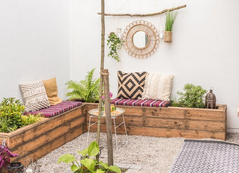 Zo creëer je een gezellige, bohemien sfeer in je tuin of op je balkon