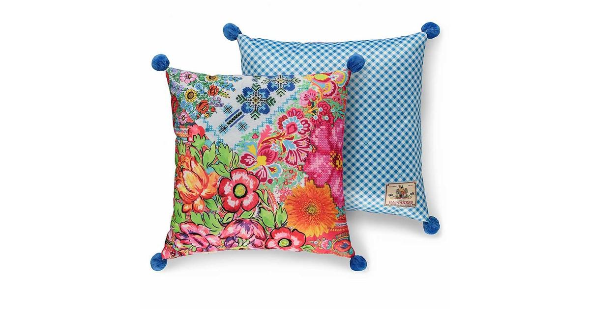 Leen Bakker Happiness sierkussen Zaira multikleur 48x48 cm online kopen