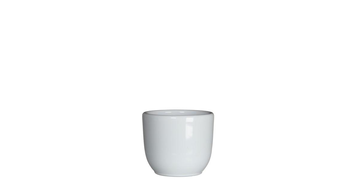 5 stuks Bloempot Pot rond tusca 6.5 x 7.5 cm wit Mica