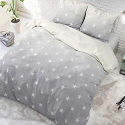 Sleeptime Twinkle Stars Dekbedovertrek Grey-240x200/220
