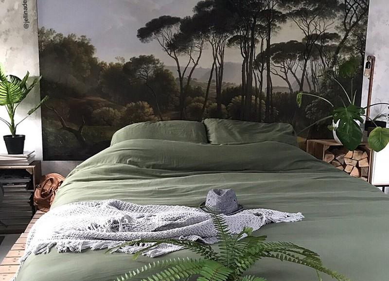 4 manieren om tropisch behang toe te passen in de slaapkamer