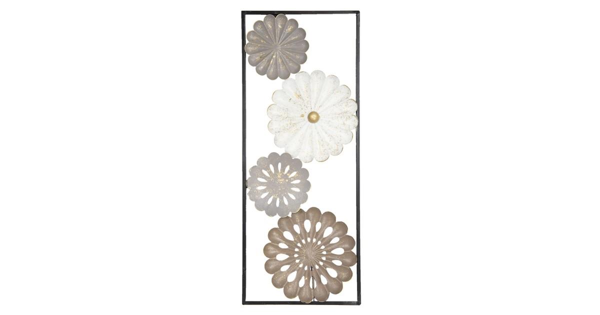 Wanddecoratie bloemen | 25*61*3 cm | Multi | Ijzer | Bloemen | Clayre & Eef | 6Y2946