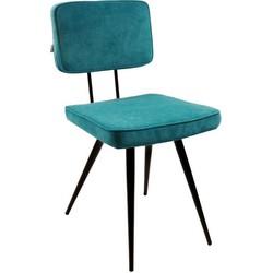 Kick eetkamerstoel Lot - turquoise