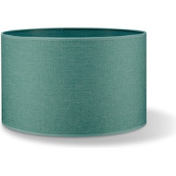 Home sweet home lampenkap Canvas 40 - turquoise blauw