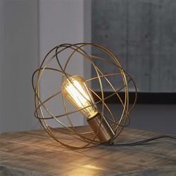Tafellamp bol draadstaal / Brons antiek
