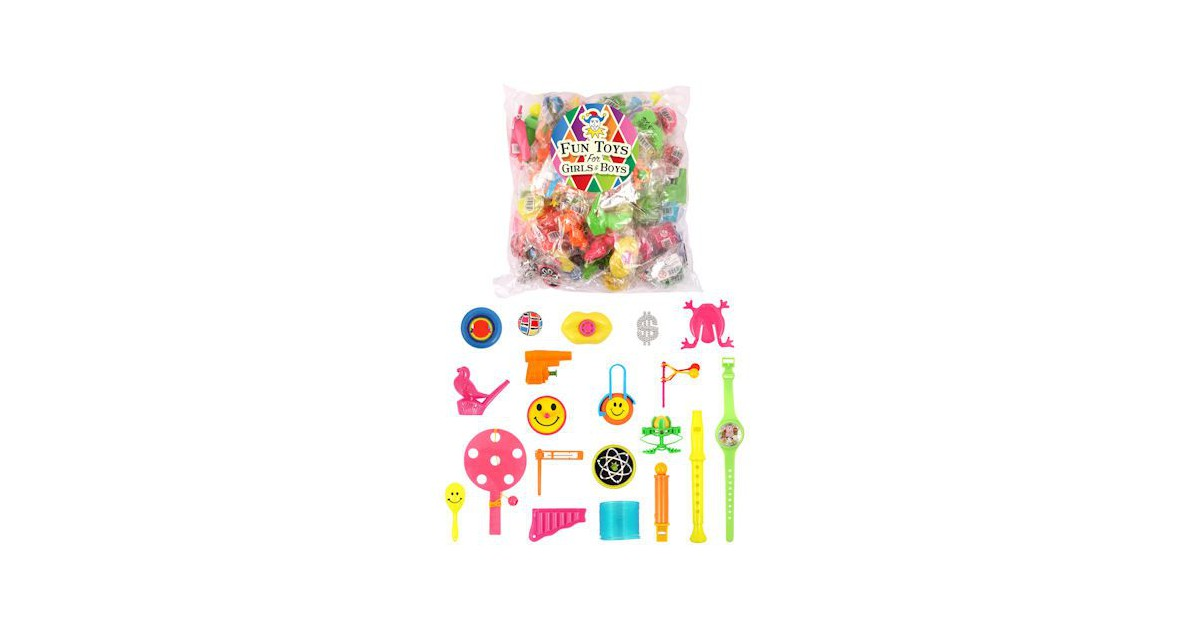 100 Stuks - MEGA XXL Mix Feestpakket - Uitdeelcadeautjes - Grabbelton - Speelgoed - Traktatie - Uitd
