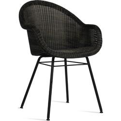 Vincent Sheppard Edgard Dining Chair - Wicker Tuinstoel - Grijs