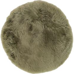 Schapenvacht Rond - ø40 cm - mosgroen