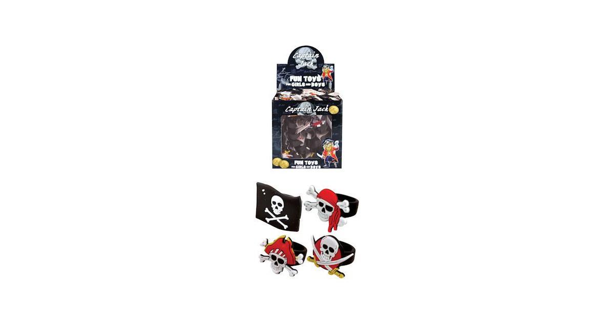 156 Stuks Mix Kinderringen Piraat - Piraten ring - In Traktatiebox - Uitdeelcadeautjes - Traktatie v