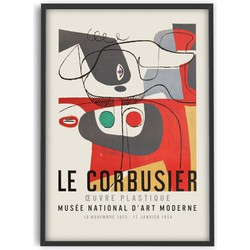 Le Corbusier  - Musée National d'Art Moderne - Poster - PSTR studio