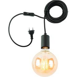Oslo - Hanglamp 6 meter + kabelhouder - Zwart