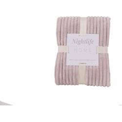 Nightlife - Plaid - Rib - Lycra / elastaan - Roze