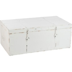 opbergkist wietze wit hout 45 x 115 x 60