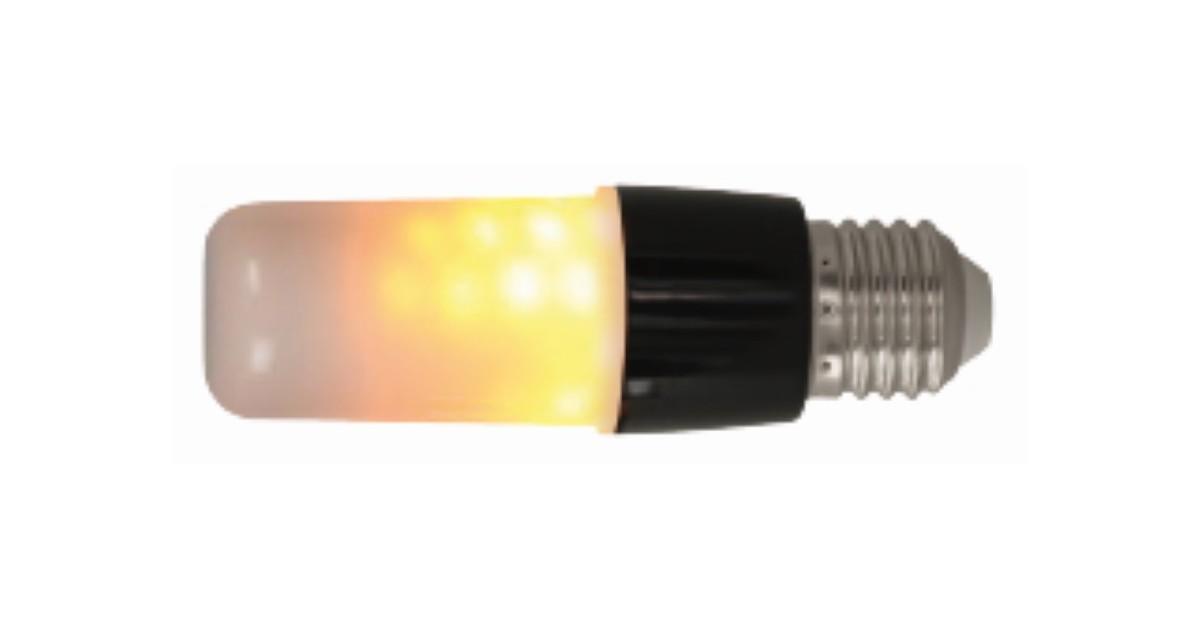 E27 Flame Light Black Opal Diffuser
