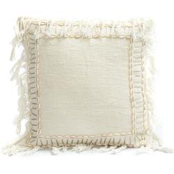 The Shell Border Cushion - White