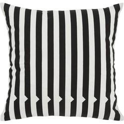 Vico gestreept kussen 45 x 45 cm, zwart-wit