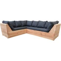 Wood4you - Loungeset 6 Douglashout 200x200 cm - incl kussens