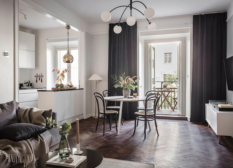 Shop the look: woonkamer met donkere vloer en neutrale tinten