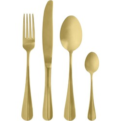 Nordal mat goud bestek set van 4