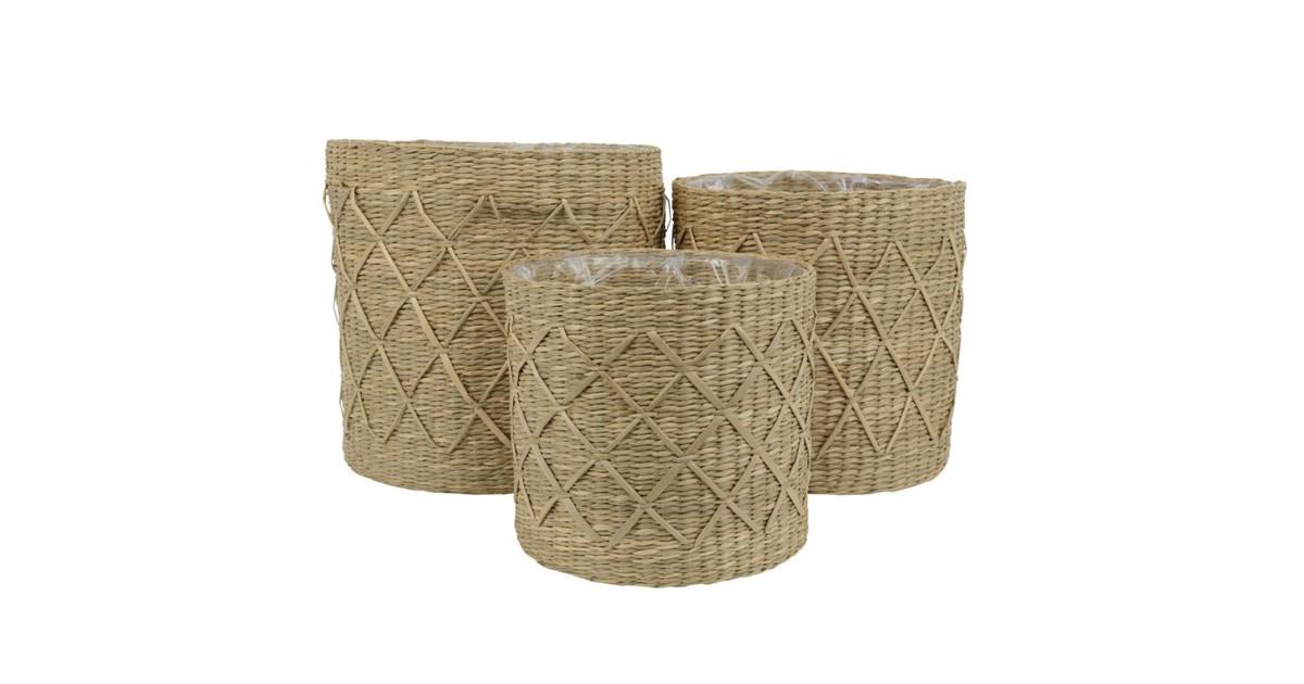 Basket sea grass M L28.00-W28.00-H26.50cm natural