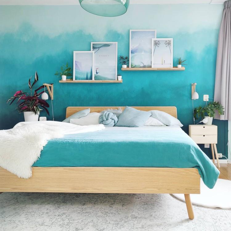slaapkamer met beigetinten