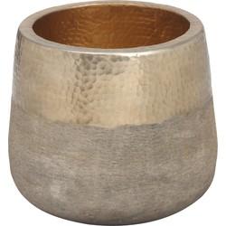 Pot Fredo antiek goud - 25x25x21,5cm - PTMD