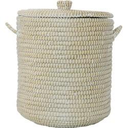 SILT 'n Pure mand zeegras met handgreep naturel, wit M Ø 40 cm