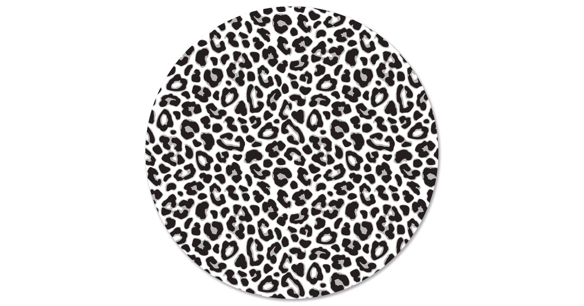 Muurcirkel klein leopard - Ø 40 cm
