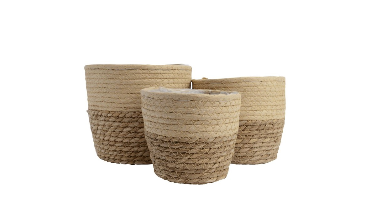 Basket grass d17h15cm beige