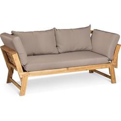 Lanterfant® Tuinbank Liv - Chaise Longue – Ligbed – Taupe