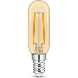 E14 LED filament Atlas 2,5 Watt buislamp Gold, T25 dimbaar (Vervangt 17W)