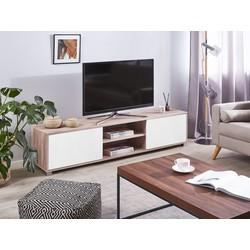 TV-meubel lichtbruin/wit LINCOLN